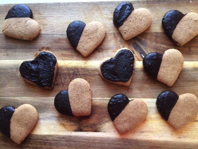 Valentine Carob Covered Coffee Cookies
