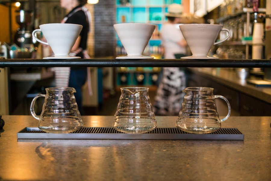 Pour-over coffee brewing